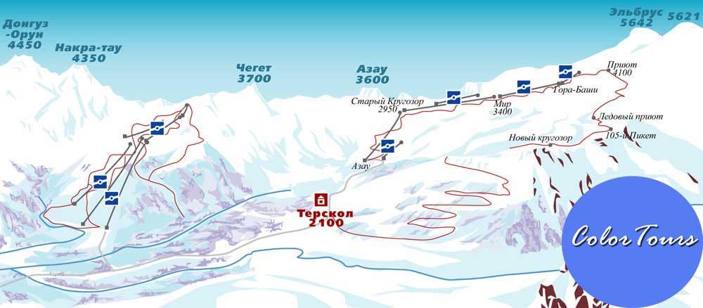 эльбрус карта