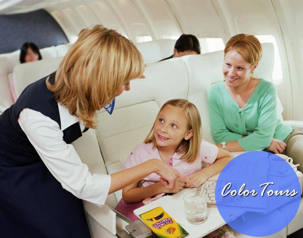 С детьми в самолете