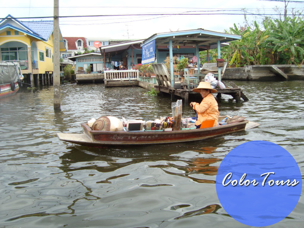 рынок на воде в Бангкоке