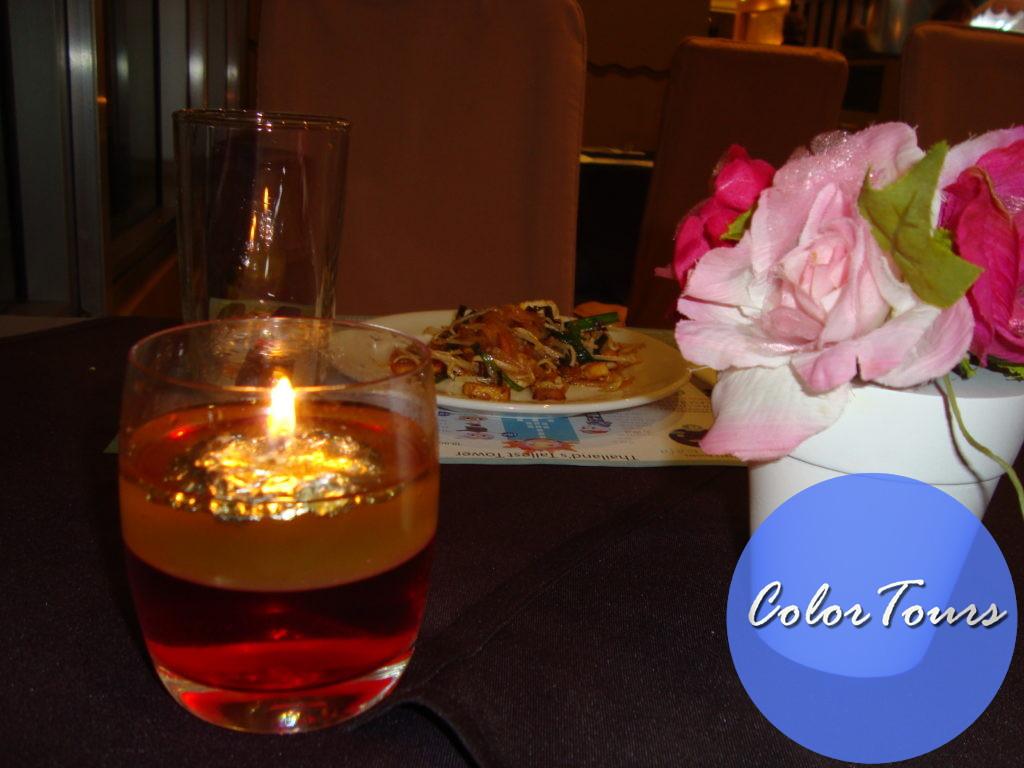 Ужин в Baiyok Sky в Бангкоке