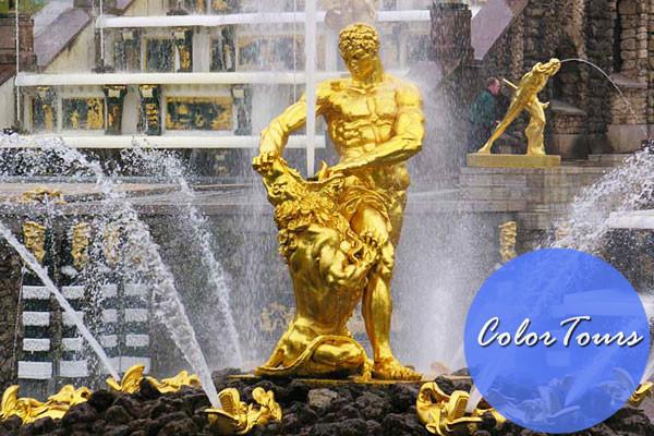 Самсон фонтаны Петергофа