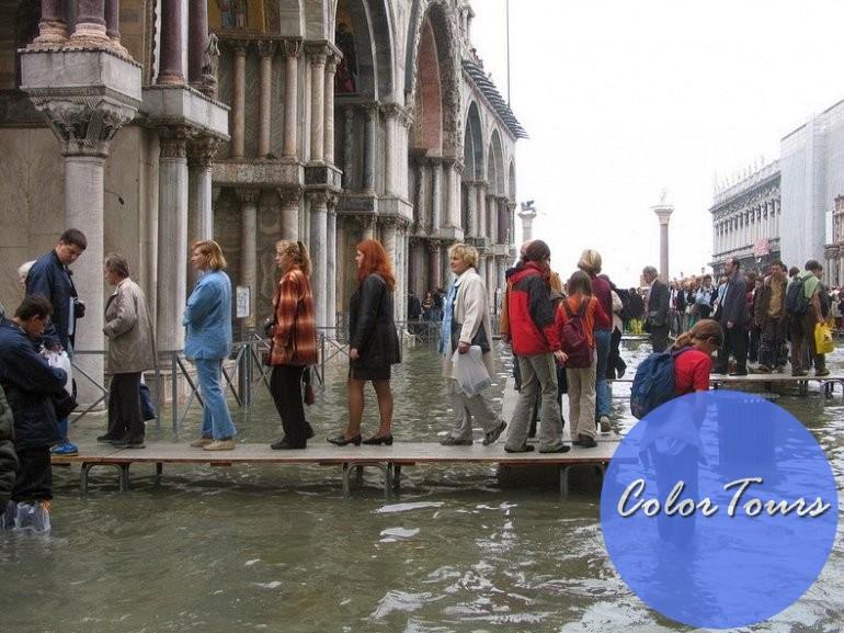 большая вода в Венеции