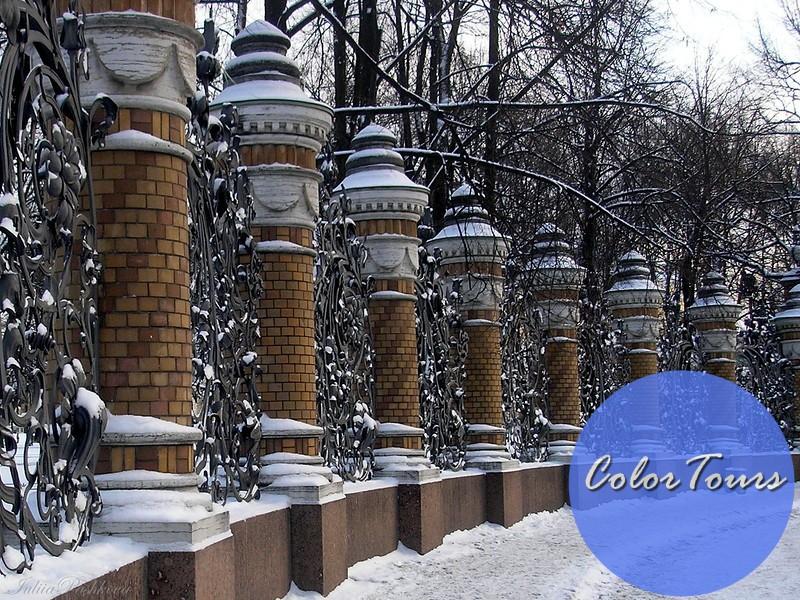 Летний сад зимой Петербург