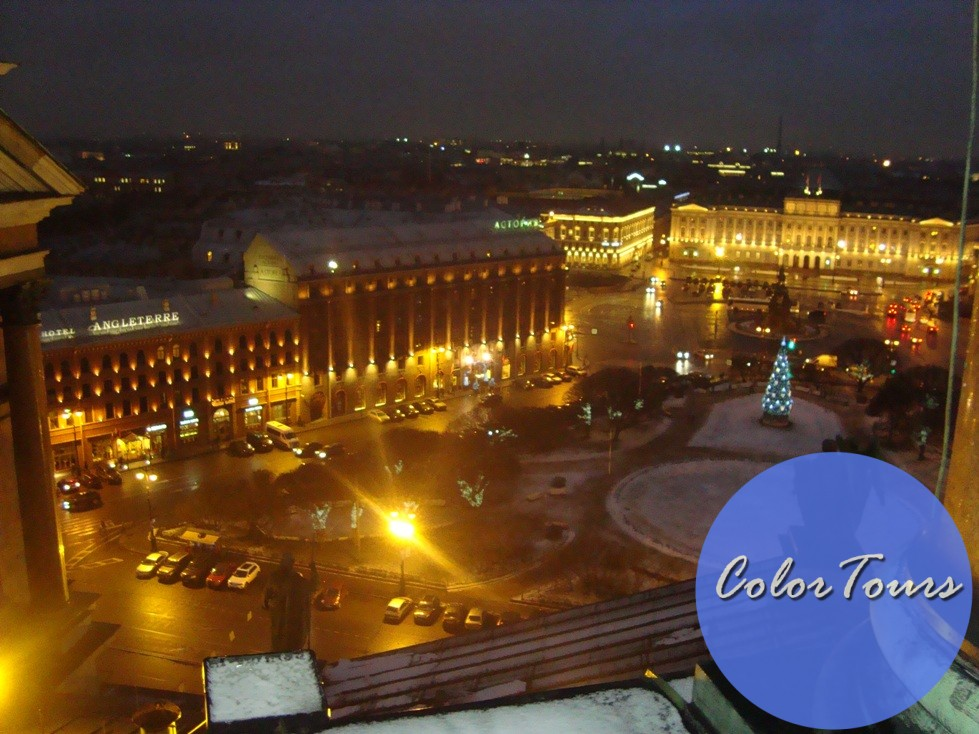 Вид с колоннады Исаакиевского собора Санкт-Петербург