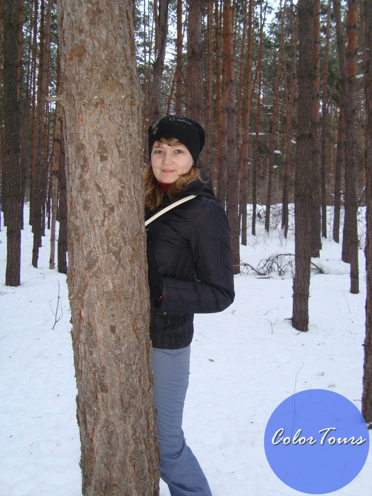 Отдых Зимой в сосновому лесу