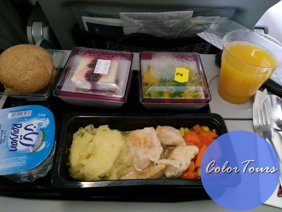 Qatar Airways еда на борту