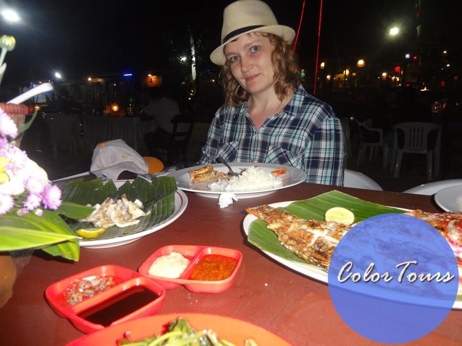 Ужин на пляже Джимбаран Бали