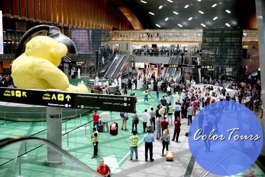 Инсталляции в аэропорту Дохи