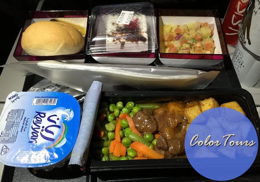 Еда при перелёте Qatar Airways