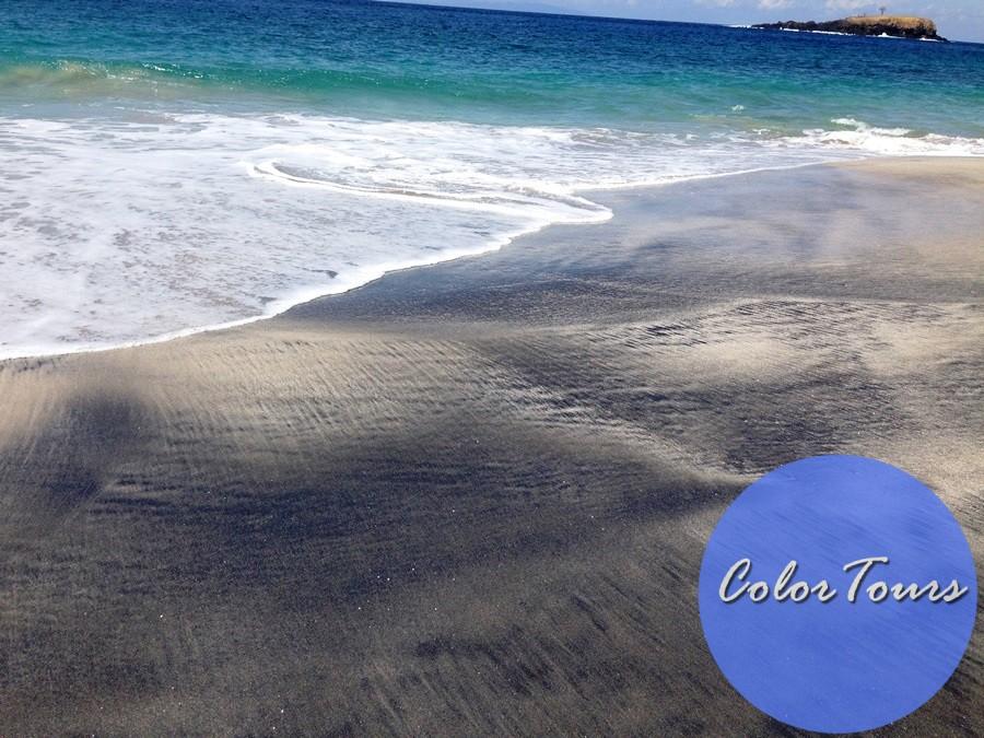 Пляжи Бали с чёрным и белым песком