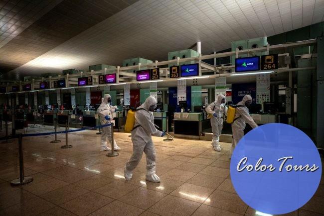 Дезинфекция аэропорта