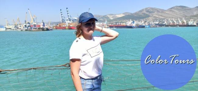 Вид на морской порт Новороссийска