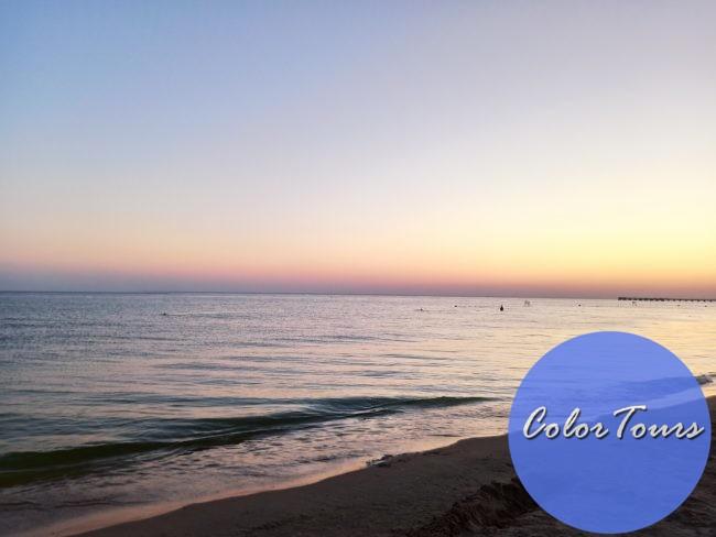 Пляж Витязево на закате
