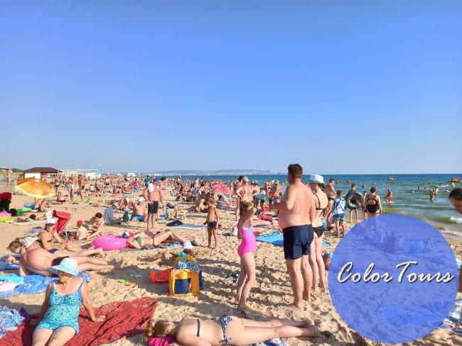 Фото центральной части пляжа в Витязево